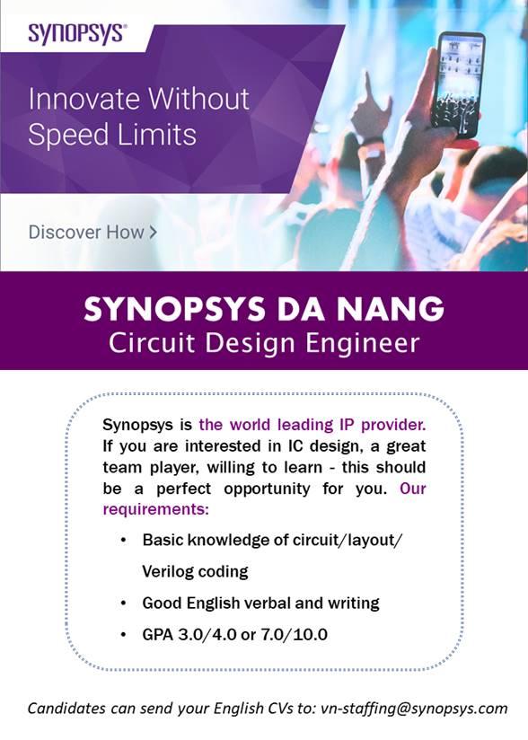 Thông tin tuyển dụng từ Công ty Synopsys