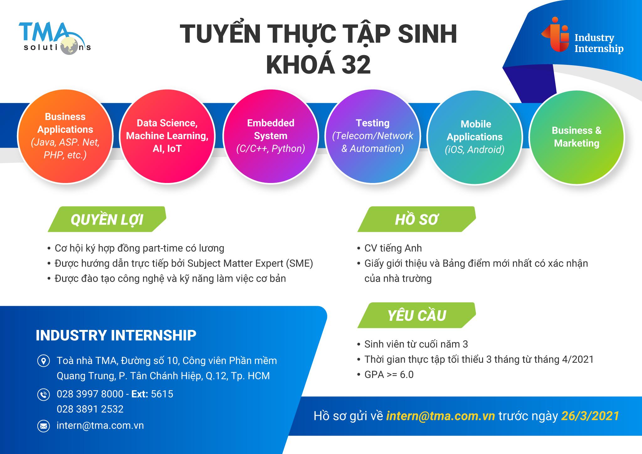 [Internship] _ công ty TMA Solutions